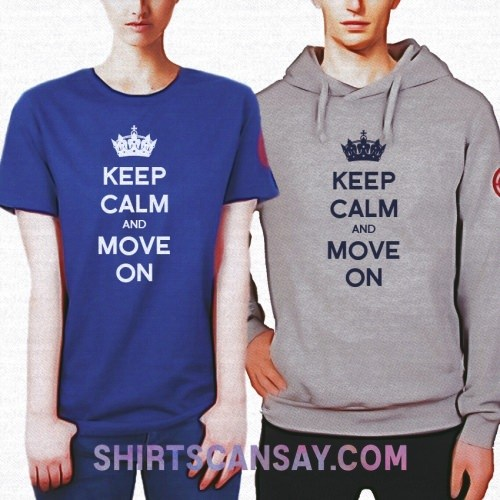 KEEP CALM AND MOVE ON 크루넥 이미지