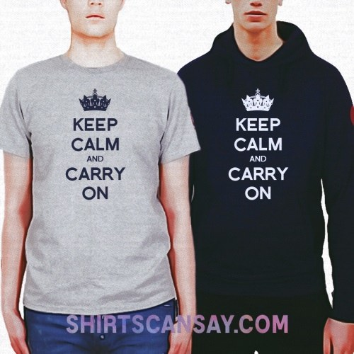 KEEP CALM AND CARRY ON 크루넥 이미지