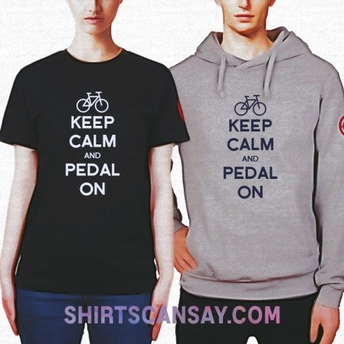 KEEP CALM AND PEDAL ON 크루넥 이미지