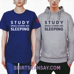 Study while others are sleeping #공부 #잠 #티셔츠 #후드티